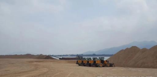 砂石采区动工129个,开工率达46.75%,出产量做到17万吨级/天!